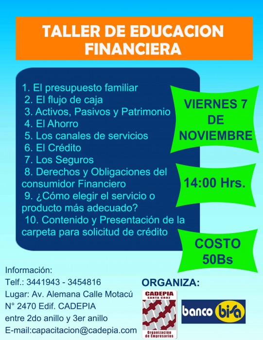 TALLER DE EDUCACION FINANCIERA